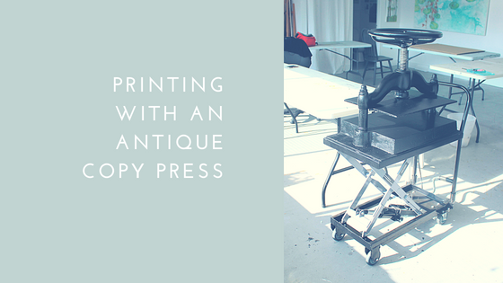 printing with an antique copy press