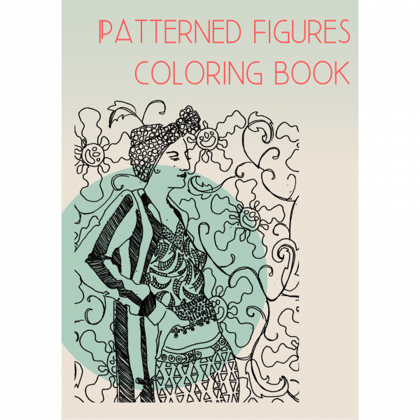 Patterned figures coloring book